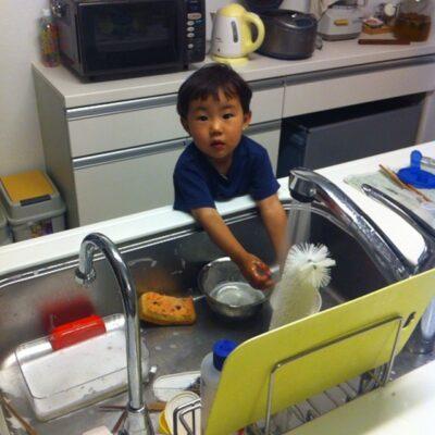 お皿洗いが大好きです